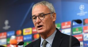Claudio Ranieri has concerns about his side Leicester City surrendering too many goals this season. Photograph: Getty.