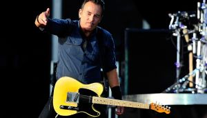 Bruce Springsteen on stage in London in 2013: thanks to psychotherapy and medication the singer  found  calm and stability. Photograph: Matt Kent/Getty Images