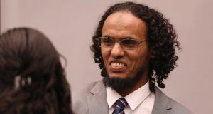 "Ahmad al-Faqi al-Mahdi,  who was full of ""genuine remorse, regret and deep pain"" at the vandalism he caused,  the International Criminal Court in The Hague was told. Photograph: Bas Czerwinski/EPA"