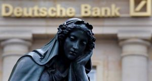 Deutsche Bank in Frankfurt, Germany: the broader market has been rattled by  speculation that the bank may need to raise capital as it faces a potential $14 billion (€12.5 billion) fine. Photograph: Kai Pfaffenbach/Reuters