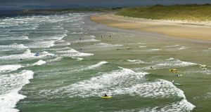 Tullan strand in Bundoran, Co Donegal, which has become one of Europe's surfing hotspots.