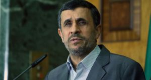Former president Mahmoud Ahmadinejad, whose two-term rule saw the country increasingly isolated internationally, said he will not stand again. Photograph: AFP/Getty Images