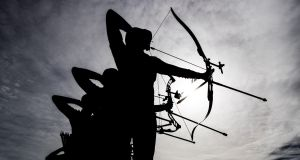TIMES ARROW: Dublin 2016 World Archery Field Championships in Kilruddery House, Dublin. Photograph: Morgan Treacy/Inpho