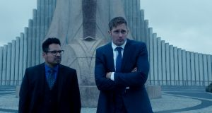 Alexander Skarsgård (right) and Michael Peña in 'War on Everyone', a bad cop comedy movie, written and directed by John Michael McDonagh, who previously made 'The Guard' and 'Calvary'