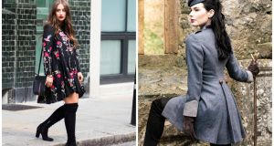 Sophie Milner, fashion blogger; The Romilly  coat, €850, Charlotte and Jane