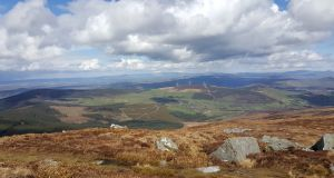A view north eastwards from Mount Leinster. There are many beautiful approaches radiating out from the mountain