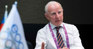 Former Olympic Council of Ireland president  Pat Hickey  during an interview at the 2015 European Games in Baku. File photograph: Jack Guez/AFP/Getty Images