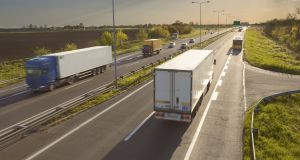 The Irish Road Haulage Association said the industry has particular difficulty obtaining competitive quotes for motor insurance. Photograph: iStock