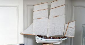 A favourite model boat belonging to architect  Ross Cahill O' Brien. Photograph: Cyril Byrne