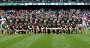 The Mayo panel ahead of the drawn final. Photograph: Donall Farmer/Inpho