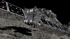 The ESA celebrates as Rosetta lands on comet 67P