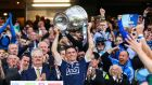 Dublin captain Stephen Cluxton lifts the Sam Maguire after the win over Mayo in the All-Ireland SFC Final  replay at Croke Park. Photograph: James Crombie/Inpho