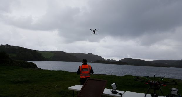 The Civil Defence has to date invested around €80,000 in drone technology with nine drones deployed in the main eight civil defence emergency areas. Photograph: Barry Roche