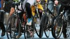 Cyclists in Dublin are seeking further funding for infrastructure. Photograph: Nick Bradshaw/The Irish Times