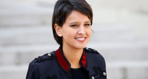 "France's education minister Najat Vallaud-Belkacem: ""I didn't imagine that the pope would let himself be fooled by the medacious folly of the fundamentalists. It makes me angry."" Photograph: Charles Platiau/Reuters"