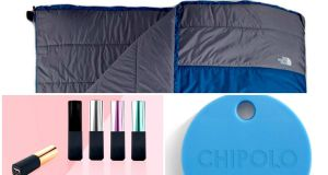 The North Face Dolomite Double 20 Sleeping Bag; PowerGloss Power Bank; Chipolo
