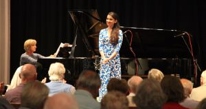 Soprano Rachel Kelly with Una Hunt on piano for Songs of Erin at the National Concert Hall as part of Composing the Island