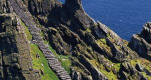 Skellig Michael, where the use of drones to capture film footage is seen as damaging to local bird life. Photographer: 	Design Pics / Gareth McCormack