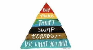 "The ""buyerarchy of needs"": there are five alternatives to buying new goods. We must all consider these as environmentally conscious citizens"