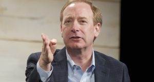 Microsoft general counsel and executive vice president Brad Smith. Photograph: by Stephen Brashear/Getty
