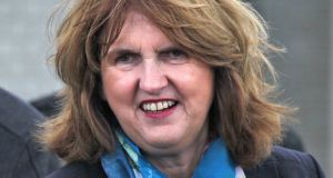Joan Burton: The Unesco report  says any unintended consequences of trapping  families in greater poverty should be rectified.  Photograph: Colin Keegan/Collins Dublin.