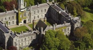 "Aerial photo of NUI Galway Quadrangle. The university set a target to become ""one of the greenest, smartest, healthiest and community-focused"" campuses in the world."