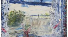 The Weir by Jack B Yeats, an oil-on-panel measuring nine inches by 14 inches and dating from 1944, which sold for almost twice its £40,000-£60,000 estimate