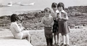 Looking Back by Eric Luke: Margaret Mary Rodgers, Helen Rodgers, Frances Rodgers, Janette Rodgers,and Triona Rodgers on Tory Island in 1977