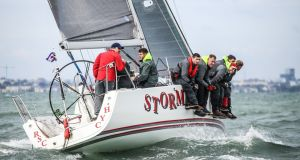 Pat Kelly's Storm of Rush Sailing Club is the 2016 J109 National Champion. Photograph: David O'Brien