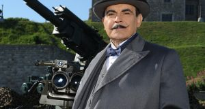 David Suchet  as ITV's  Hercule Poirot: In The Mysterious Affair at Styles (1920) Poirot had already retired from the Belgian police; when he died in 1975 he was at least 120!  The New York Times gave him a front-page obituary, the only fictional character ever so honoured