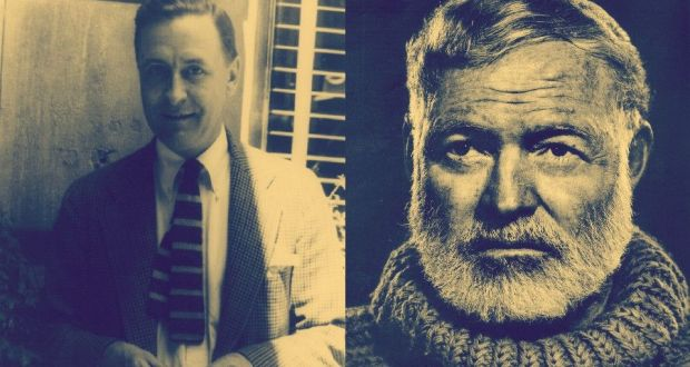 "hemingway and fitzgerald F scott fitzgerald was a snibling whiner, a wastrel and a decadent my worst english class in college was the semester we had to study ""great gatsby""paragraph by paragraphit was a ""great waste"" of my college life."