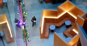 Looking down on the inner atrium at Facebook's Dublin HQ. Photograph: Cyril Byrne