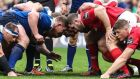 James Cronin (R) has been cited for a stamp during Munster's defeat to Leinster. Photograph: Inpho/Billy Stickland