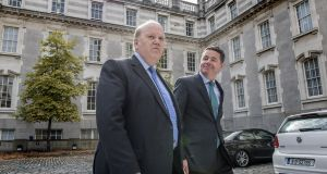 Minister for Finance Michael Noonan  and Minister for Public Expenditure and Reform Paschal Donohoe   at Government Buildings in Dublin. File photograph: Brenda Fitzsimons/The Irish Times
