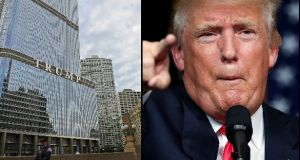 "On Ireland staying at Trump Tower, the IRFU said ""there was a limited choice of hotels available because of a packaging conference in Chicago that same week."" Photographs: Getty Images"