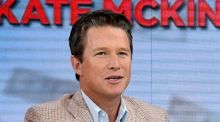 "Co-presenter Billy Bush on the ""Today"" show in New York. On Monday NBC suspended him from the show over his behaviour during his conversation with Trump in 2005. Photograph: Peter Kramer/NBC via AP"