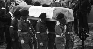 The funeral of IRA hunger striker Raymond McCreesh in 1981.  File photograph: Pat Langan/The Irish Times