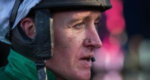 Barry Geraghty made a winning return to action at Galway on Tuesday, partnering All The Answers to victory. Photograph: Inpho