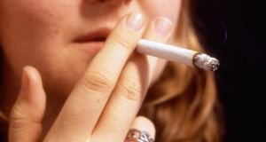 Budget 2017: Fianna Fáil health spokesman Billy Kelleher said the downward trend in smoking was positive but there was a particular propensity among young girls to take up smoking. Photograph: The Irish Times