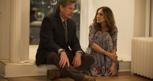 Thomas Haden Church as Robert and  Sarah Jessica Parker as Frances in Divorce.