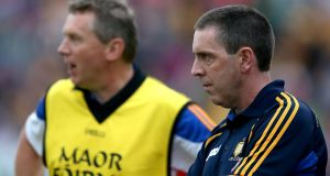 Clare's new joint senior hurling managers Donal Moloney and Gerry O'Connor. Photograph: Inpho