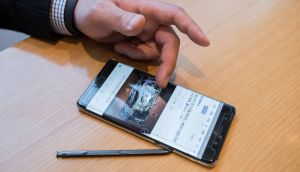 The Irish Aviation Authority  has advised passengers carrying Samsung Galaxy Note 7 smartphones to refrain from using their devices on board planes, amid ongoing safety concerns. Photograph: Ed Jones/AFP/Getty Images