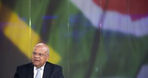 Pravin Gordhan, South Africa's finance minister: many South Africans believe President Jacob Zuma and his allies are behind the charges. Photograph:  Jason Alden/Bloomberg