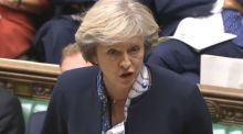 British prime minister  Theresa May: Sterling's   gains eased  around midday in London when Mrs May and her Brexit minister David Davis sounded some less concessionary notes in a pair of appearances in parliament. Photograph: PA Wire
