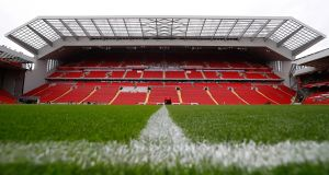 Liverpool's redeveloped main stand at Anfield. Photograph: Phil Noble/Reuters.
