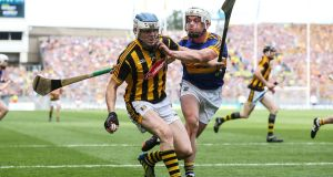 "Tipperary's Ronan Maher tackles Kilkenny's TJ Reid. ""It was nice to get another one over on them [Kilkenny],it's been a long time since 2010.""Photograph: Cathal Noonan/Inpho"