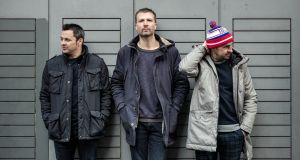 Dominic Philips, Paul Noonan and David Geraghty from BellX1. Photograph: Johnny Savage