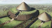 "JG O'Donoghue's artist impression of Rathcroghan Mound: the mound was where the kings and queens of Connacht were inaugurated in a ritual ""mating"" with the local Earth goddess"