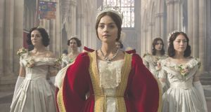 Jenna Coleman as the eponymous queen in ITV's 'Victoria', a series from the old school