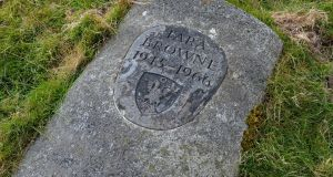 The grave of Tara Browne, at Lugalla, Co Wicklow: he is the subject of Paul Howard's new book I Read the News Today, Oh Boy. Photograph: Eric Luke / The Irish Times